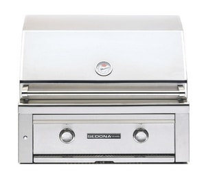 Sedona By Lynx Sedona 30 in. 46000 BTU 2-Burner Natural Gas Built-In Grill in Stainless Steel LL500PSNG