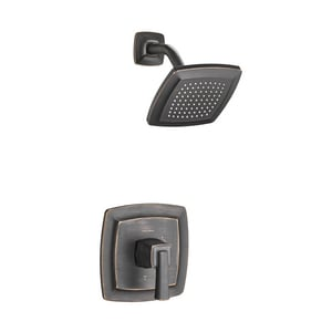American Standard Townsend® 1.75 gpm 1-Function Wall Mount Shower Trim Kit with Single Lever Handle and Showerhead in Legacy Bronze AT353507278