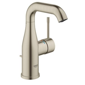 GROHE Essence New Deck Mount Bathroom Sink Faucet with Single Lever Handle in Starlight Brushed Nickel G23485ENA