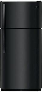Frigidaire 18 cf Free Standing Top Freezer Refrigerator in Black FFFTR1814TB
