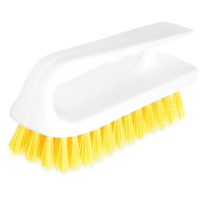 Carlisle Foodservice Sparta® 6 in. Polyester Hand Scrub Brush in Yellow C4002404