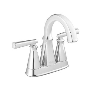 American Standard Edgemere® Two Handle Centerset Bathroom Sink Faucet in Polished Chrome A7018201002