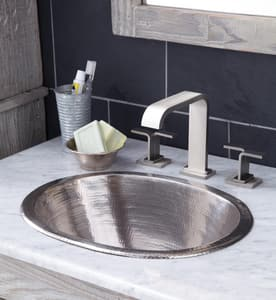Native Trails Kitchen & Bath Cameo Round Bathroom Sink in Brushed Nickel NCPS548