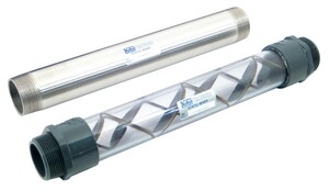 Koflo Corporation 2 in. MNPT 6-Element PVC Static Mixer in Clear K240C462
