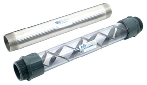 Koflo Corporation Clear PVC 12 Element 1 in. NPT X 18 in. Length K140C4122 at Pollardwater