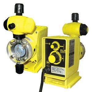 LMI LMI PO Series 14 gpd 250 psi 120V PTFE Chemical Metering Pump LP041459SI