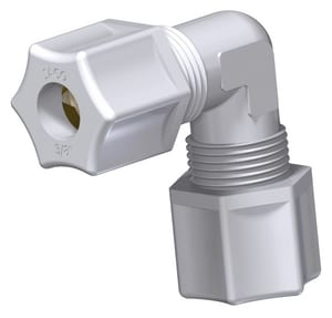 3/8 in. Straight Polypropylene Compression Union Elbow J506PO at Pollardwater