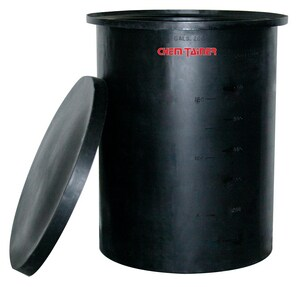 Chem-Tainer Industries 360 gal Sodium Hypochlorite Tank with Cover CTC4848HAAF