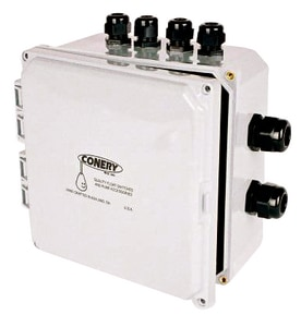 Conery Manufacturing Junction Box With (1) 1-1/2 in. Conduit Hub (4) 1/2 in. Cord Grips CJB35B at Pollardwater