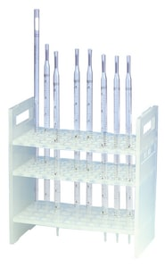 Bel-Art Products 8-3/8 in. Polypropylene Pipette Support Rack for 50 Pipette BF189530000
