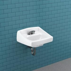 Sloan Valve Wall Mount Bathroom Sink in White S3873003