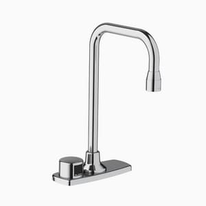 Sloan Valve Optima® 0.35 gpm 1-Hole Deck Mount Electronic Lavatory Faucet and Gooseneck Spout 6 in. Reach in Polished Chrome S3365780