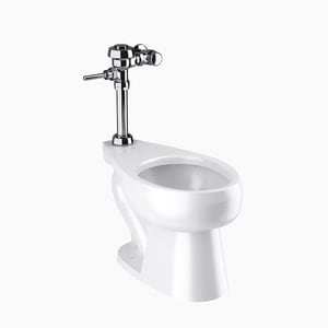 Sloan Valve Optima® 1.28 gpf Elongated Two Piece Toilet in White S20201001
