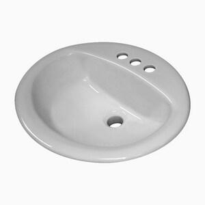 Sloan Valve Self-rimming/Drop-in Bathroom Sink in White S3873002