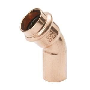 Streamline® PRS™ 1/2 in. Press x Fitting Copper 45 Degree Elbow MPF033