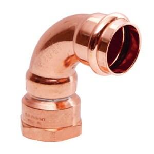 Streamline® PRS™ 3/4 in. Press x FNPT Copper 90 Degree Elbow MPF01532