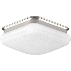 Progress Lighting 17W 1-Light LED Flush Mount Ceiling Fixture in Brushed Nickel PP35001700930