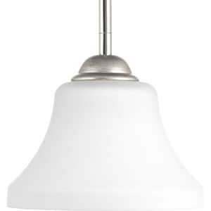 Progress Lighting Noma 7-3/8 in. 100W 1-Light Medium E-26 Incandescent Mini Pendant in Polished Nickel PP500007104