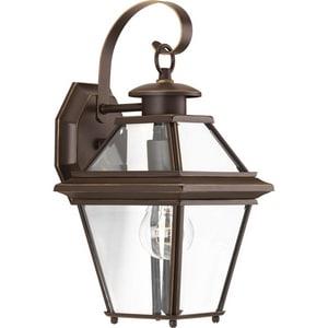 Progress Lighting Burlington 1-Light 100W Down Lighting Small Wall Lantern in Antique Bronze PP661520