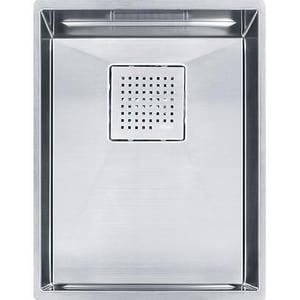 Franke Peak 14-9/16 x 17-3/4 in. No Hole Single Bowl Undermount Kitchen Sink in Stainless Steel FPKX11013