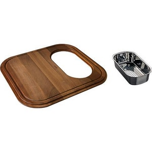 EuroPro Wood CUT Braided With COLANDER Stainless Steel FGN1845SP