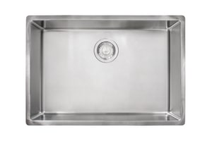 Franke Cube 26-5/8 x 17-3/4 in. No Hole Stainless Steel Single Bowl Undermount Kitchen Sink in Satin Stainless Steel FCUX11025