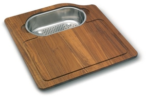 Franke Consumer Products Orca Wood Cutting Braided with Stainless Steel Colander FOC45SP