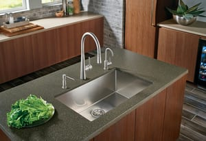 Franke Consumer Products Planar 8 29-1/2 x 18-1/2 in. Stainless Steel Single Bowl Undermount Kitchen Sink FPEX11028