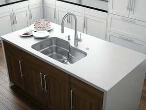 Franke Consumer Products Orca 30-11/16 x 20-1/6 in. Single Bowl Undermount Kitchen Sink Stainless Steel FORX110