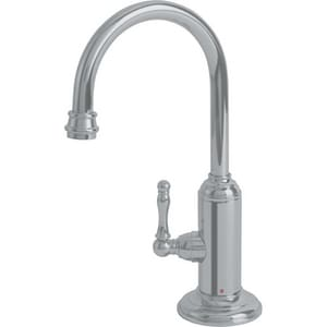 Franke Consumer Products Farm House 0.5 gpm 1-Hole Deck Mount Hot Water Dispenser with Single Lever Handle in Satin Nickel FLB12180