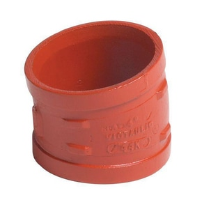 Victaulic FireLock™ Style 13-C 24 x 24 in. Grooved Ductile Iron 11-1/4 Degree Bend VA240013PFL