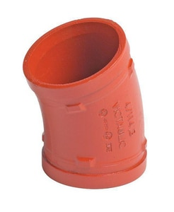 Victaulic FireLock™ Style 77 6 22-1/2 Elbow 12-C Cast Iron Cement Lined T37-77 VA060012PCL