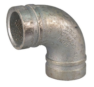 Victaulic FireLock™ Style 10 3 in. Grooved Galvanized Ductile Iron 90 Degree Drain Bend VDOMF030010G00