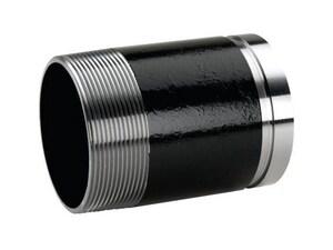 Victaulic 1-1/2 X 10 Black Grooved X Thread Nipple 40 VFB47040U00-NR