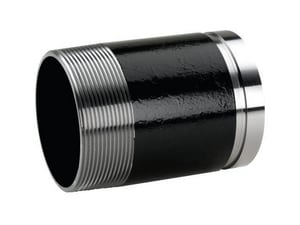 Victaulic FireLock™ Style 40 2-1/2 x 4 in. Grooved x Threaded Straight Galvanized Carbon Steel Nipple VDOMFC26040G00-NR