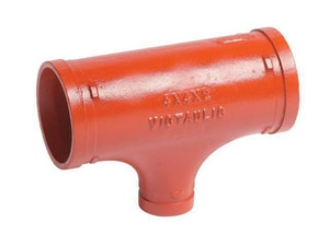 Victaulic Style 25-C Grooved Ductile Iron Reducing Tee VAG25BF0-NR