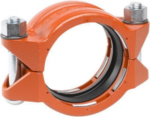 Victaulic 2-1/2 in. Plain End Straight Painted Orange Enamel Ductile Iron Coupling with E-Gasket VDOML024099PE0