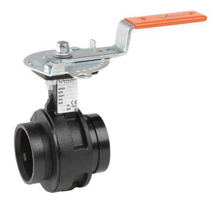 Victaulic Series 761 10 in. Ductile Iron EPDM Gear Operator Handle Butterfly Valve VV100761SE7-NR