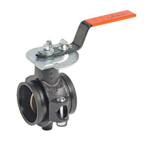 Victaulic 700 Series 1-1/2 in. Carbon Steel Nitrile Locking Lever Handle Butterfly Valve VV700XTJ-NR