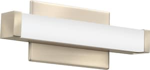 Lithonia Lighting Contemporary Square 18W 1-Light Vanity with Glass in Brushed Nickel LFMVCSL24INMVOLT