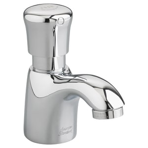 American Standard Pillar 0.5 gpm 1-Hole Metering Lavatory Faucet with Single Push Handle and 3-1/2 in. Spout Reach in Polished Chrome A1340M107002