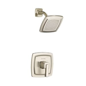 American Standard Townsend® 1.75 gpm Bath and Shower Trim Kit with Single Lever Handle and Water Saving Showerhead in Brushed Nickel AT353507295