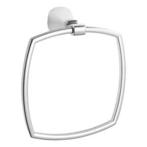American Standard Edgemere® Rectangular Closed Towel Ring in Polished Chrome A7018190002