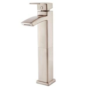 Pfister Kenzo™ Single Handle Vessel Filler Bathroom Sink Faucet in Brushed Nickel PLG40DF1K