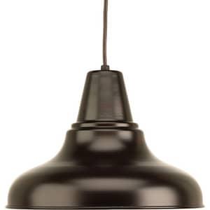 Progress Lighting District 100W 1-Light Medium E-26 Incandescent Outdoor Pendant in Antique Bronze PP555120
