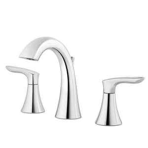 Pfister Weller™ Two Handle Widespread Bathroom Sink Faucet in Polished Chrome PLG49WR0