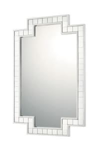 Capital Lighting Fixture 29 x 45 in. Polyurethane Rectangular Decorative Mirror in Silver Leaf C723801MM
