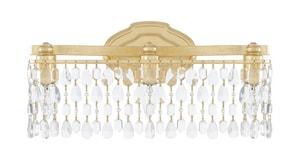 Capital Lighting Fixture Blakely 60W 3-Light Medium E-26 Incandescent Vanity Fixture in Capital Gold C8528CGCR