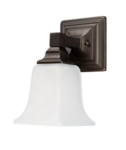 100W 1-Light Incandescent Medium E-26 A19 Wall Sconce in Burnished Bronze C1061BB142
