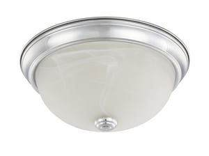 Capital Lighting 60W 2-Light Flushmount Ceiling Light in Polished Chrome C219021CH